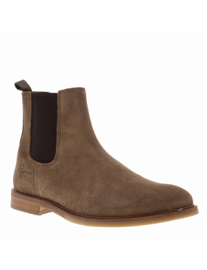 Boots homme cuir chelsea beige