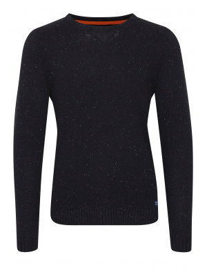 Pull homme coupe droite marine
