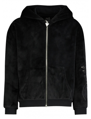 Gilet à capuche junior fille HOODED LS ACTIVE TOP W/ZIP coupe droite noir