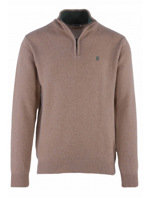 Pull homme beige