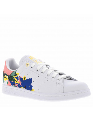 Baskets basses femme STAN SMITH cuir  blanc/rose