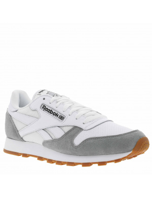Baskets basses homme CLUB LEATHER cuir  blanc/gris