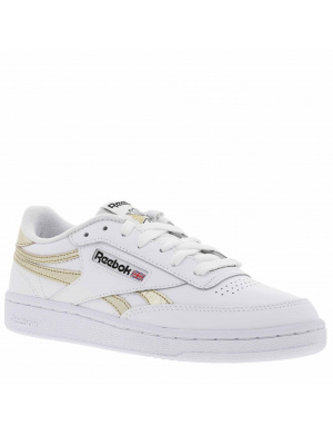Baskets basses femme CLUB C REVENGE cuir  blanc/or
