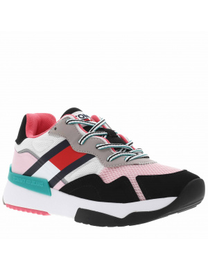 Baskets basses femme    multicolor (blanc/rose/noir/vert)