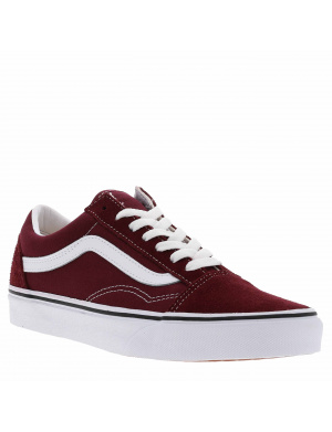 Baskets basses femme OLD SKOOL cuir  bordeaux