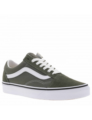 Baskets basses femme OLD SKOOL cuir  olive