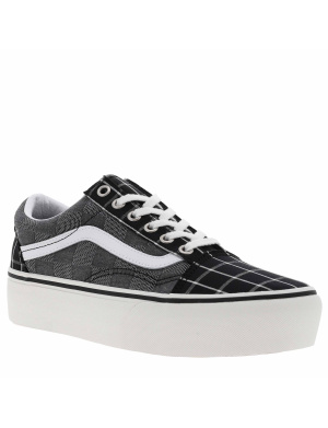 Baskets basses femme OLD SKOOL PLATFORM   noir