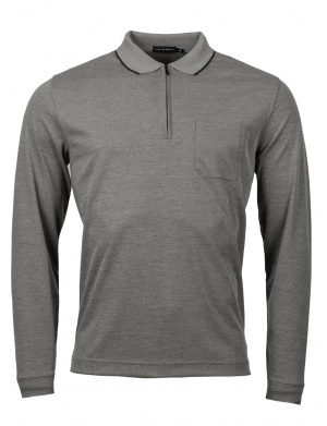 Polo homme droite  polyester recyclé anthracite