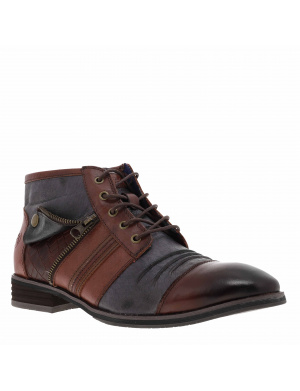 Boots homme MOORE cuir  marron