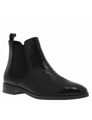 Bottines femme cuir chelsea FAILLY noir croco