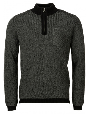 Pull col cheminée homme gris
