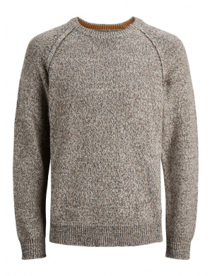 Pull homme coupe droite gris clair