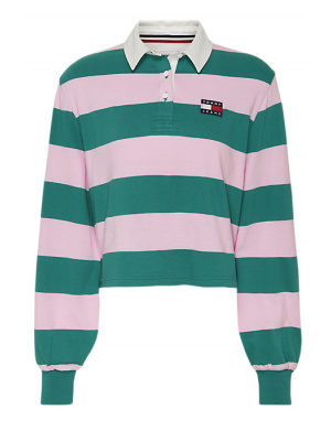 Polo manches longues femme vert