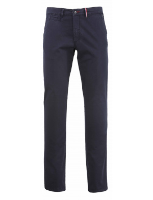Pantalon homme  regular-fit chino stretch en coton marine