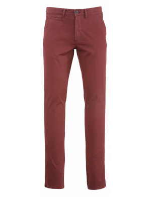 Pantalon  homme  adjusted-fit stretch en coton brique
