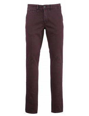 Pantalon  homme  adjusted-fit chino stretch en coton aubergine