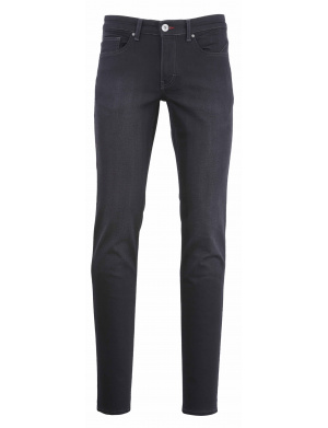 Pantalon  homme  adjusted-fit stretch en coton noir