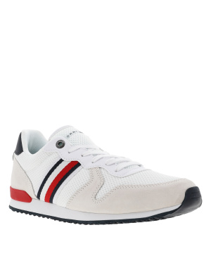 Baskets basses homme style streetwear ICONIC MATERIAL MIX RUNNER blanc