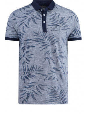 Polo  pour homme marine  coupe