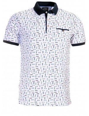 Polo pour homme rose coupe droite