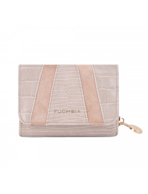 Portefeuille taupe pour femme LOMBARD