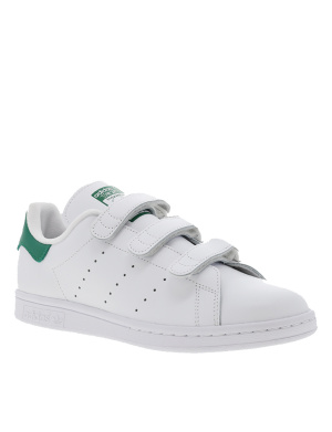 Baskets basses homme en cuir STAN SMITH CF blanc et vert