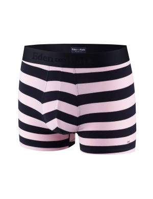 Boxer rayures homme rose