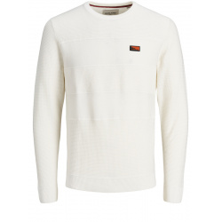 Pull pour homme blanc coupe droite