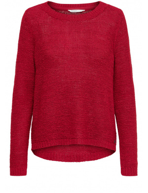 Pull Rouge femme coupe droite uni