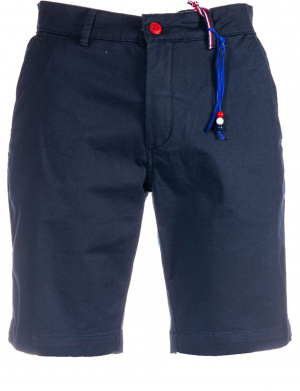 Short chino pour homme marine coupe droite