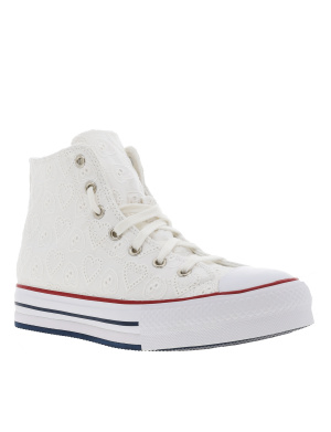 Baskets montantes fille CHUCK TAYLOR ALL STAR EVA LIFT HI blanc