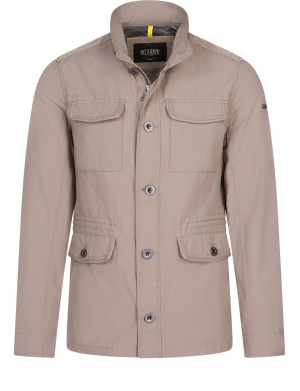 Veste unie pour homme taupe coupe adjusted fit