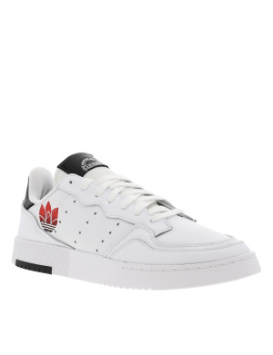 Baskets basses homme en cuir SUPERCOURT blanc