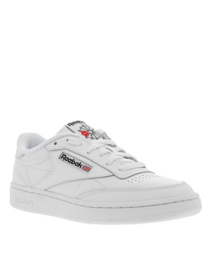 Baskets basses femme en cuir  CLUB C 85 blanc