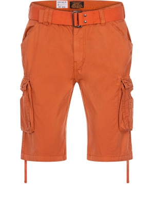 Short cargo pour homme orange slim