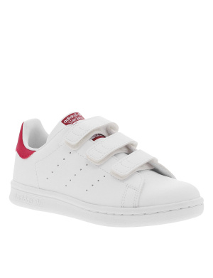 Baskets basses fille STAN SMITH blanc et rose