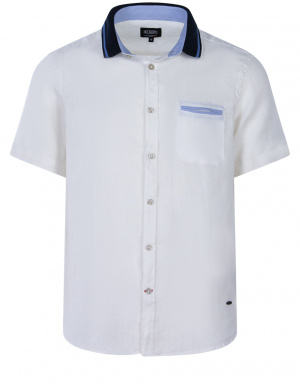 Chemise blanche unie pour homme coupe regular fit