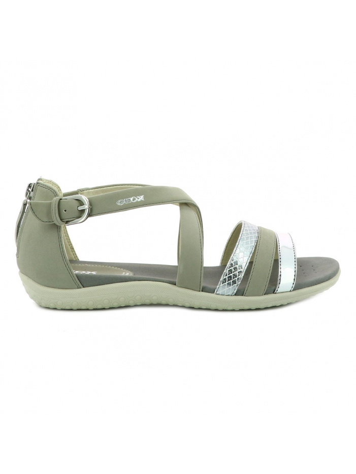 Chaussures nu-pieds femme gris GEOX