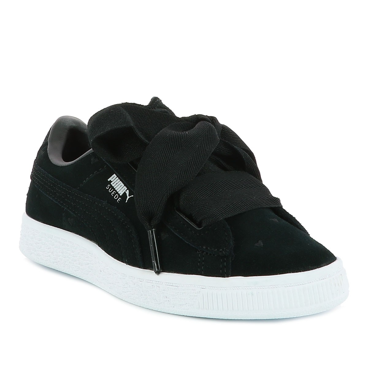 2619c35ab9 Baskets Suede Heart Valentine fille noir Puma- CCV Mode