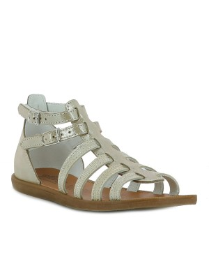 Chaussures nu-pieds fille beige