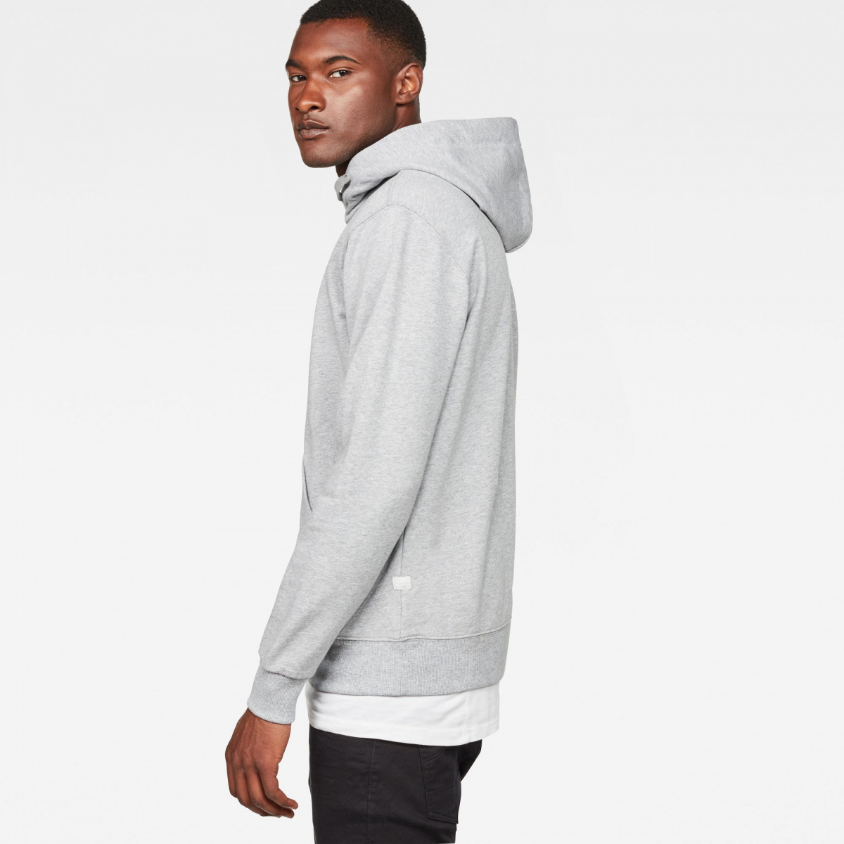9fe834a3c3493 Sweat à capuche homme gris G-Star Raw- CCV Mode
