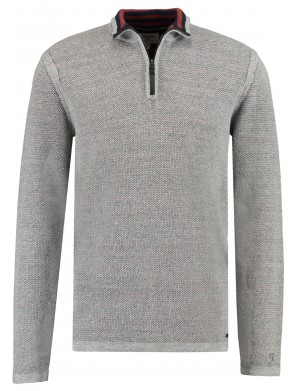 Pull homme gris