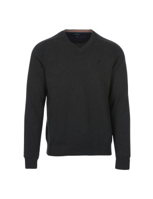 Pull Palasco col V homme gris
