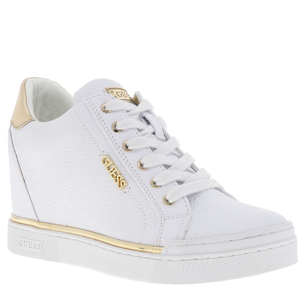 Guess Flowrus Guess Femme Flowrus Femme Chaussures Blanc bgmIYyvf76