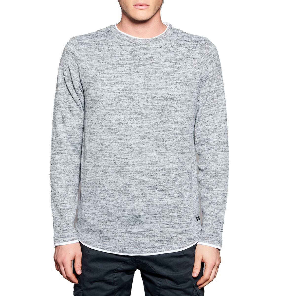 longues gris manches Deeluxe T CCV shirt Mode homme 48EwUy6cq