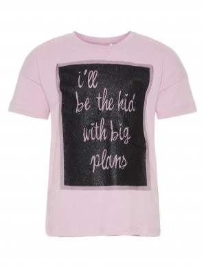 T-shirt manches courtes fille rose