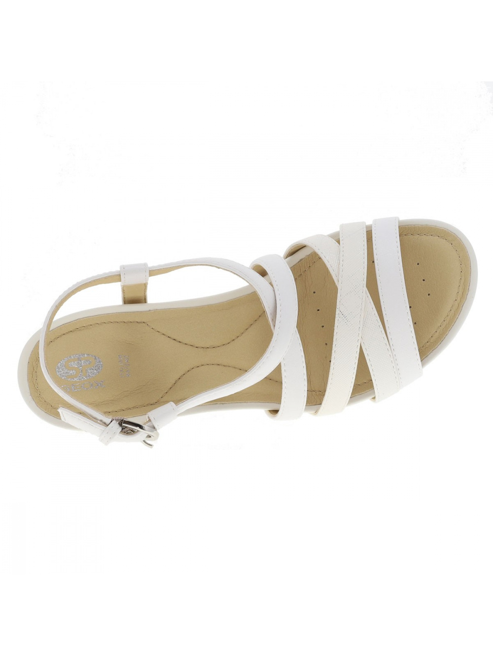 Chaussures New Rorie nu-pieds femme blanc GEOX