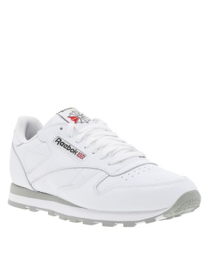 Baskets Classic Leather homme blanc
