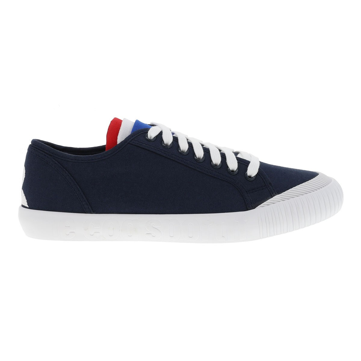 Baskets toile à lacets nationale 2 marine Le Coq Sportif