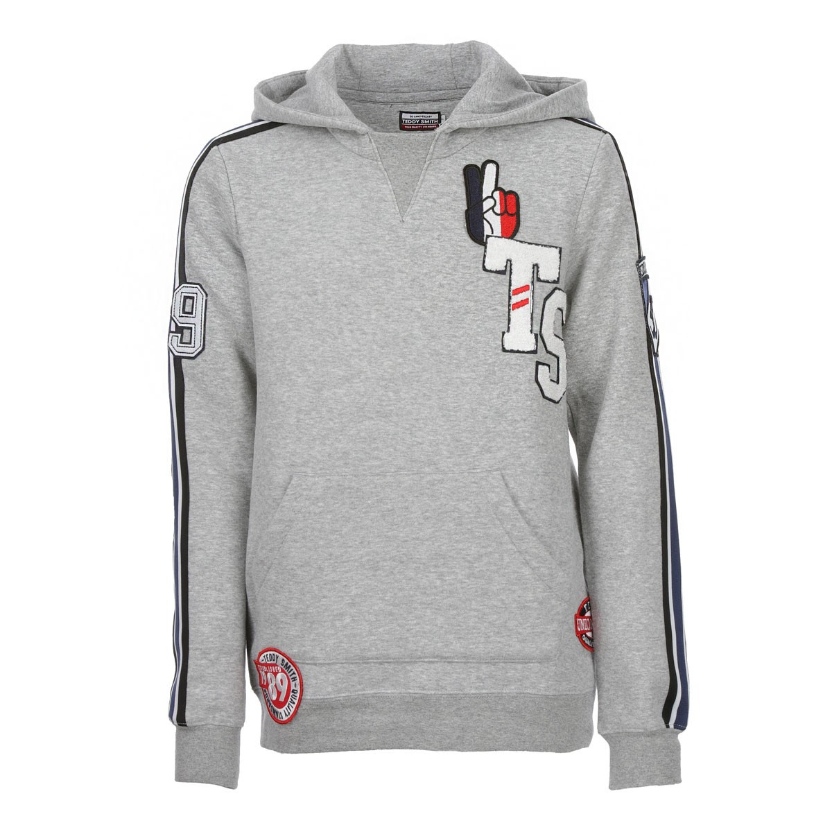 TEDDY SMITH Sweat à capuche garçon gris